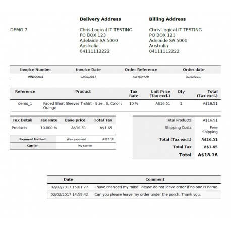 Display Customer Order Messages On Invoice And Delivery Slip Pdf