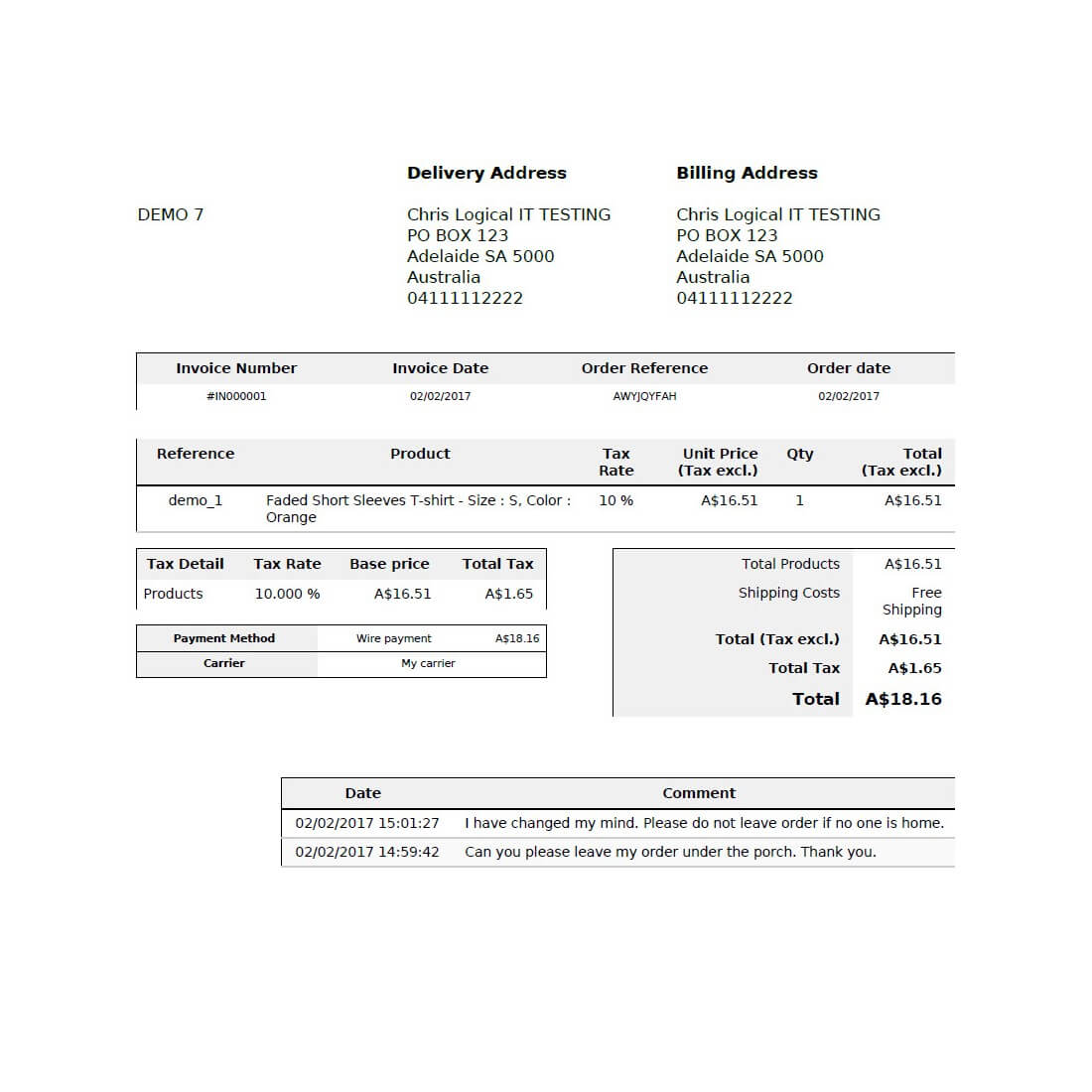 Display Customer Order Messages On Invoice And Delivery Slip PDF Module  Invoice Slips