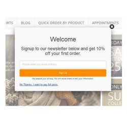 Newsletter Signup Popup Voucher Code