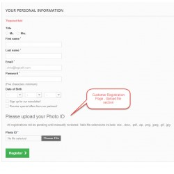 Customer Registration Upload File