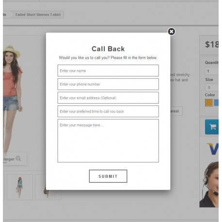 Call Back Request Module
